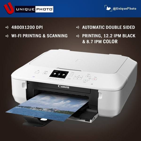 Print Beautiful Photos With Remarkable Quality Using Canon Pixma Wireless Photo Printer Photo Printer Printer Printing Double Sided