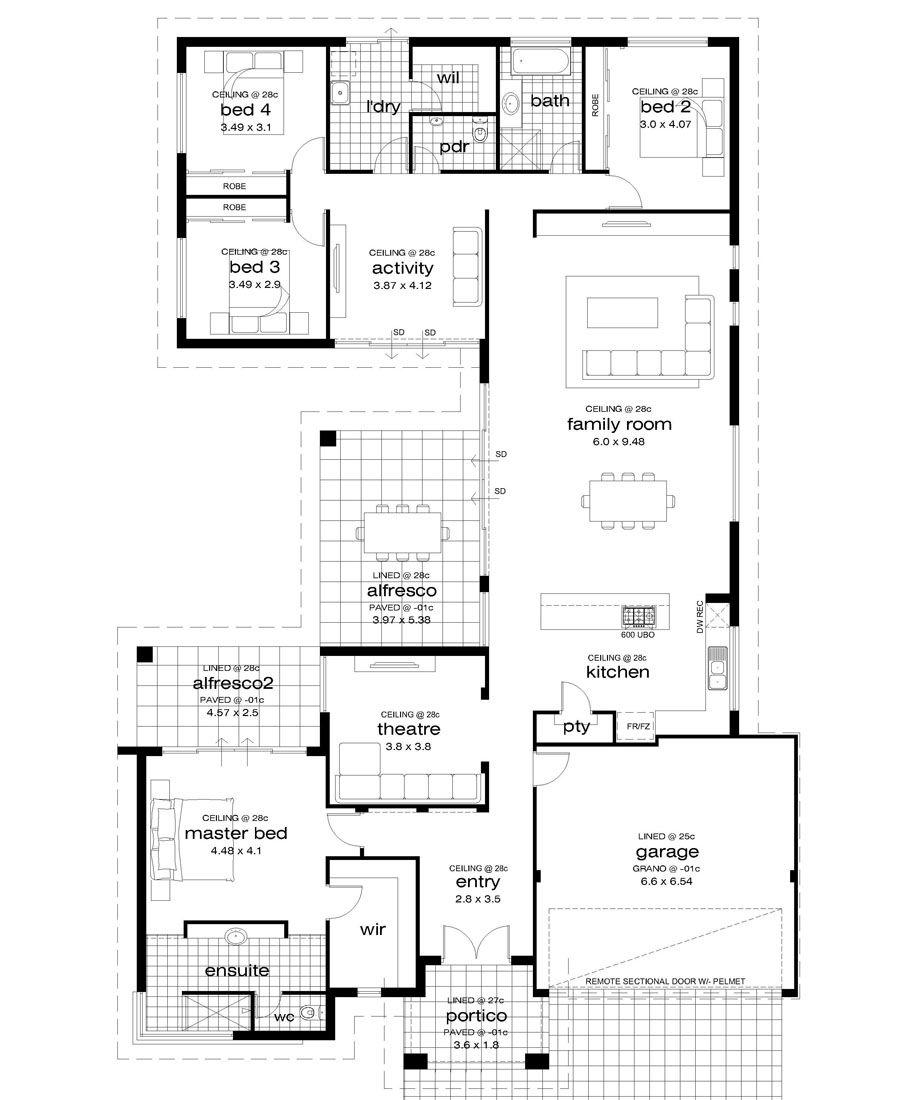 Premiere Homes 17m Wide Block House Plans Happy House Floor Plans