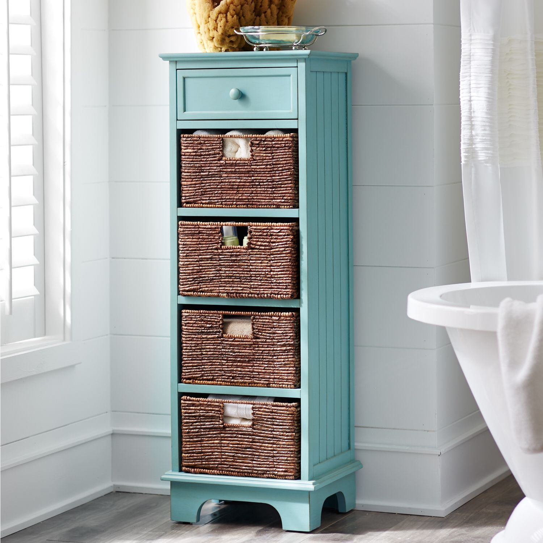 Holtom Tall Antique Sky Blue Cabinet | Entrada