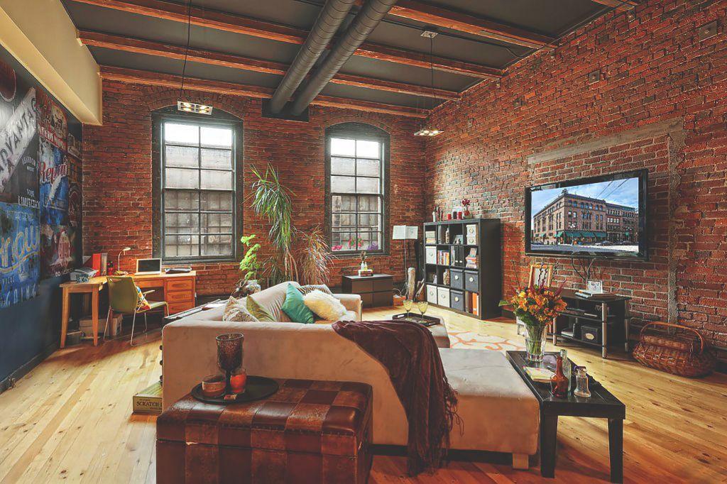 loft apartment brick. Urbnindustrial  Pioneer Square Loft In Seattle Living Rooms