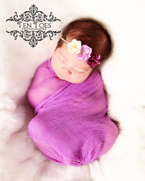 Grape Purple Cheesecloth Fabric Wrap Newborn Wrap Photo Props Wrap