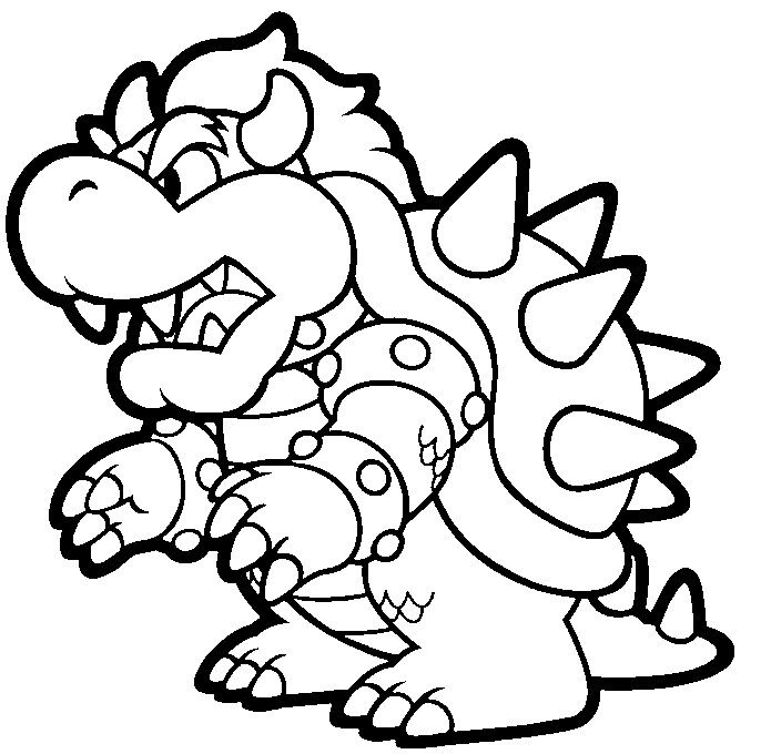 Coloring Pages Bowser Super Mario For Kids Castle