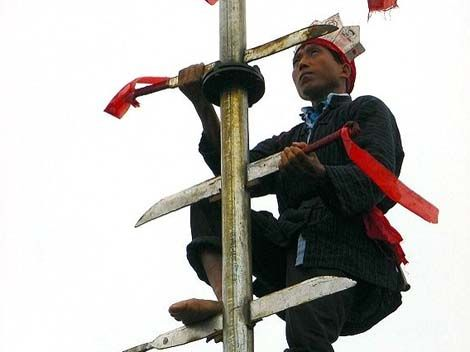Climbing a Ladder of Knives - Miao ethnic groups of China culture
