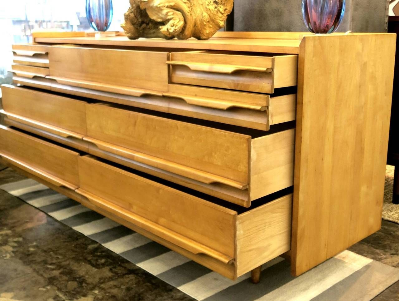 Awesome Crawford Furniture Mid Century Low Dresser Of Solid Maple, Circa 1950 |  From A