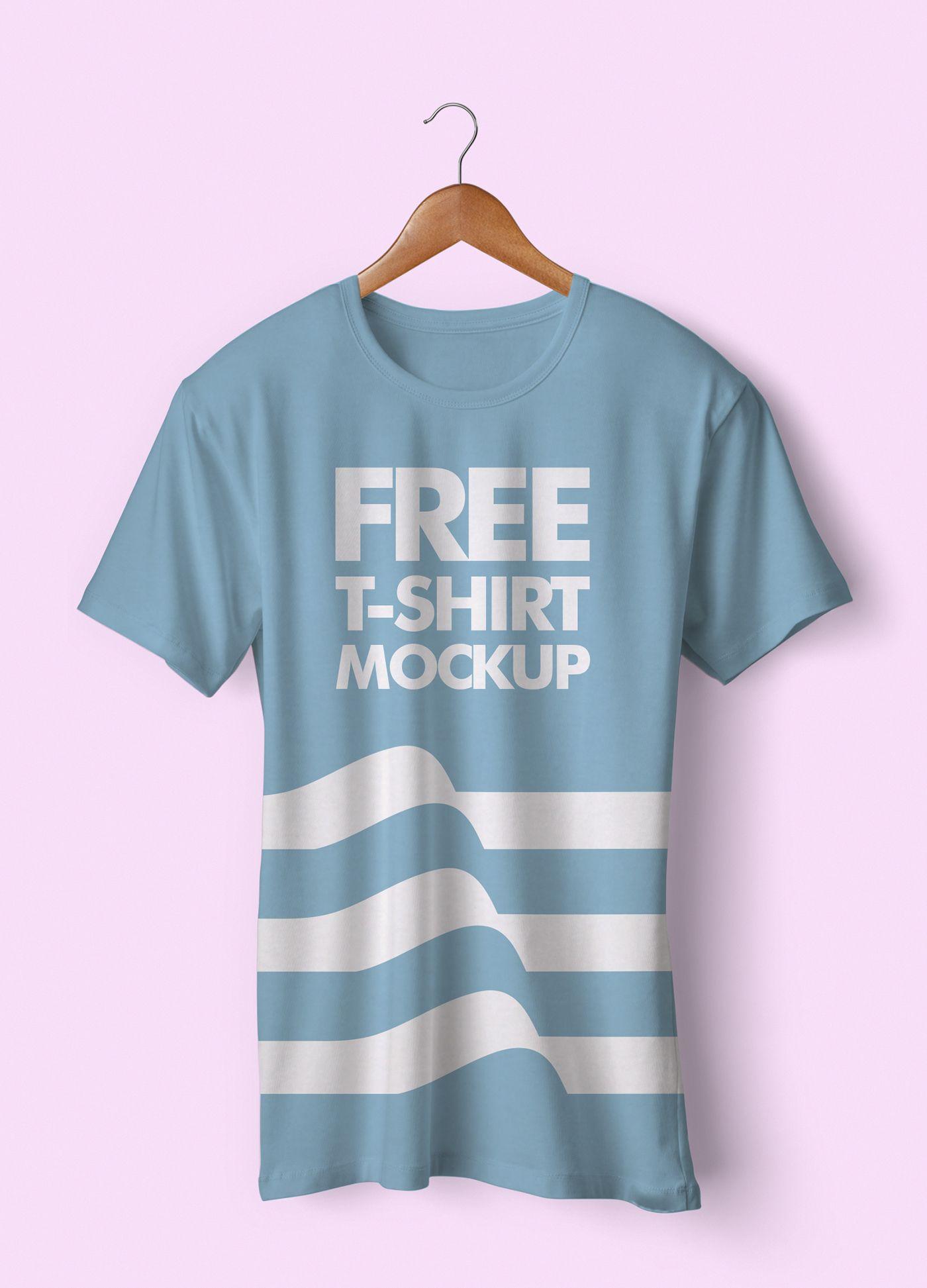 Download Free T Shirt Mockup Psd On Behance Dengan Gambar