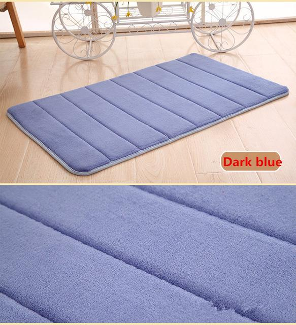 9 Colors 60x40cm Bathroom Memory Foam Shower Mat Memory Foam