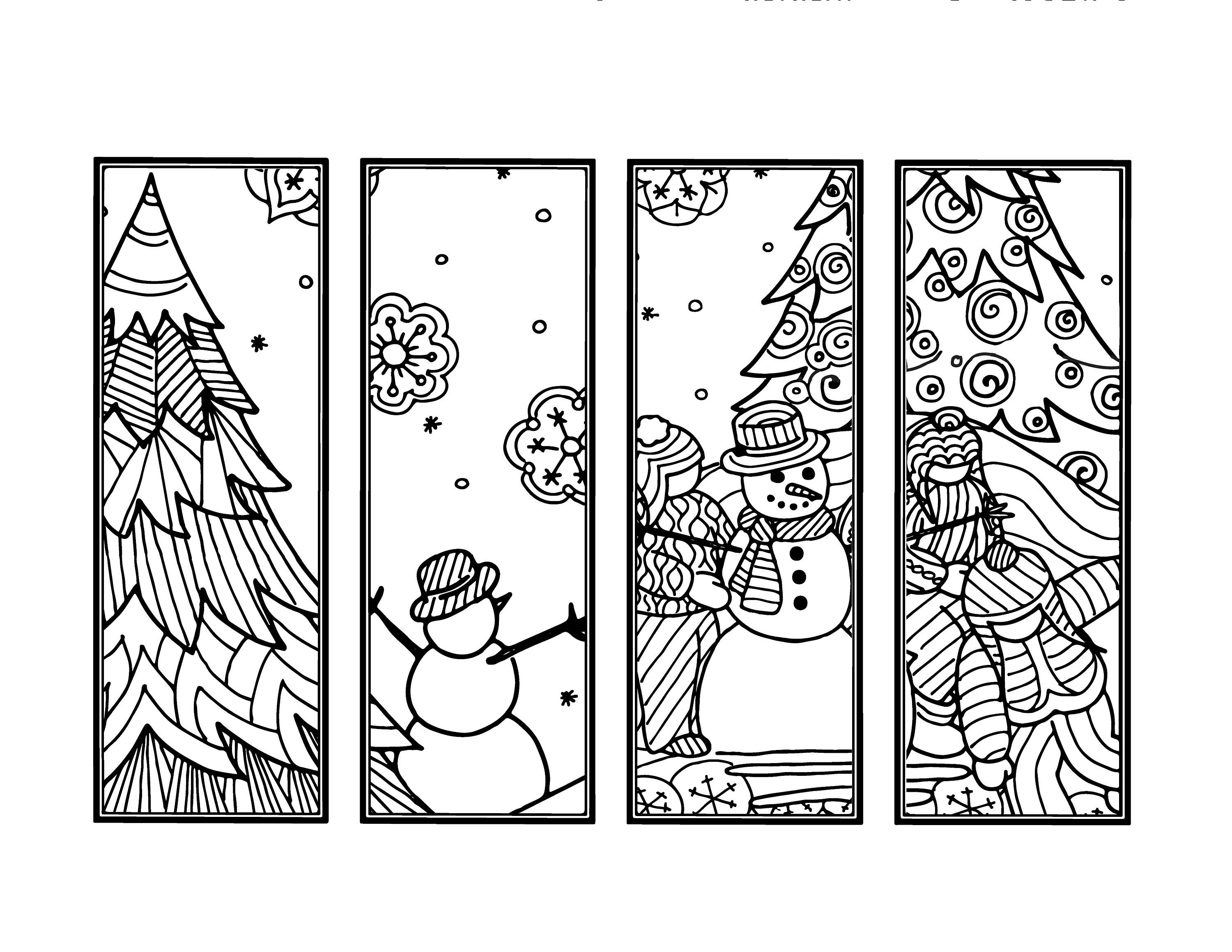 Diy Snowman Bookmarks Set Of 4 Holiday Crafts Winter Etsy Coloring Bookmarks Christmas Coloring Books Christmas Bookmarks