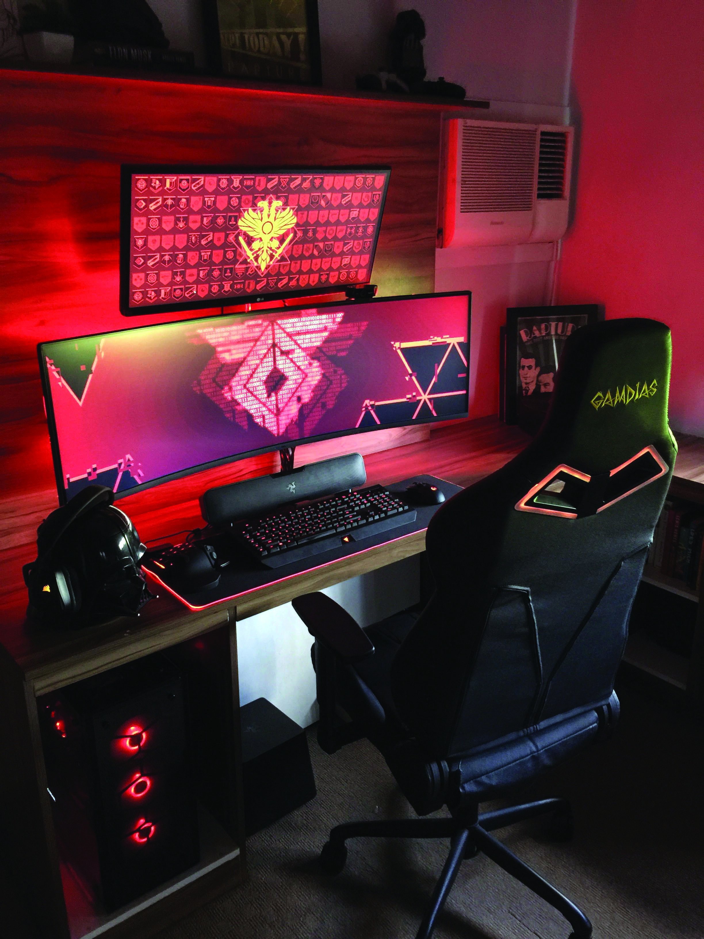 Gaming Computer Desk | Gaming computer desk, Gaming room ...