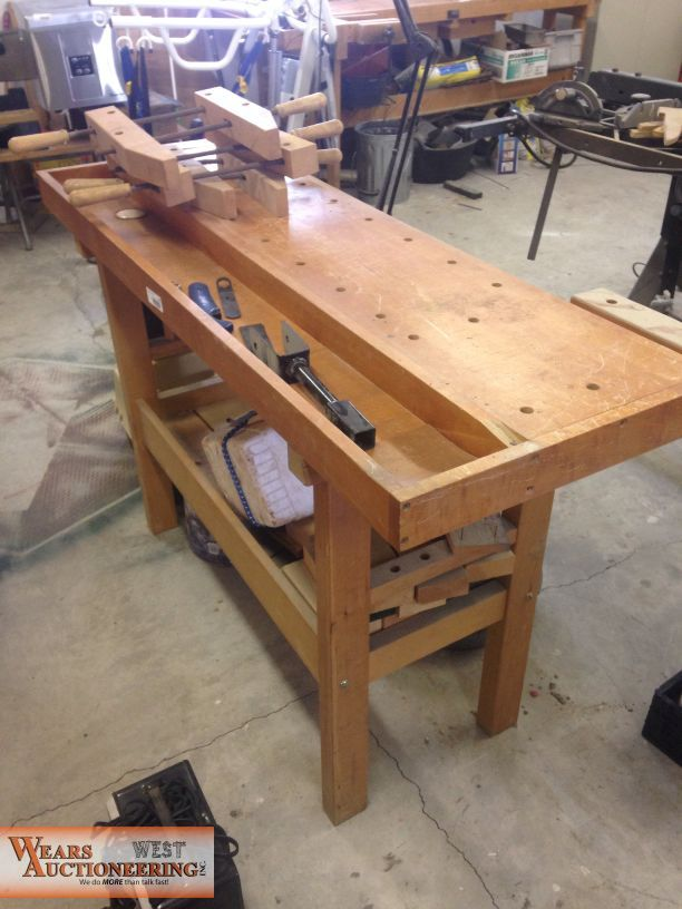 Woodworking Bench For Sale At Online Only Auction Item
