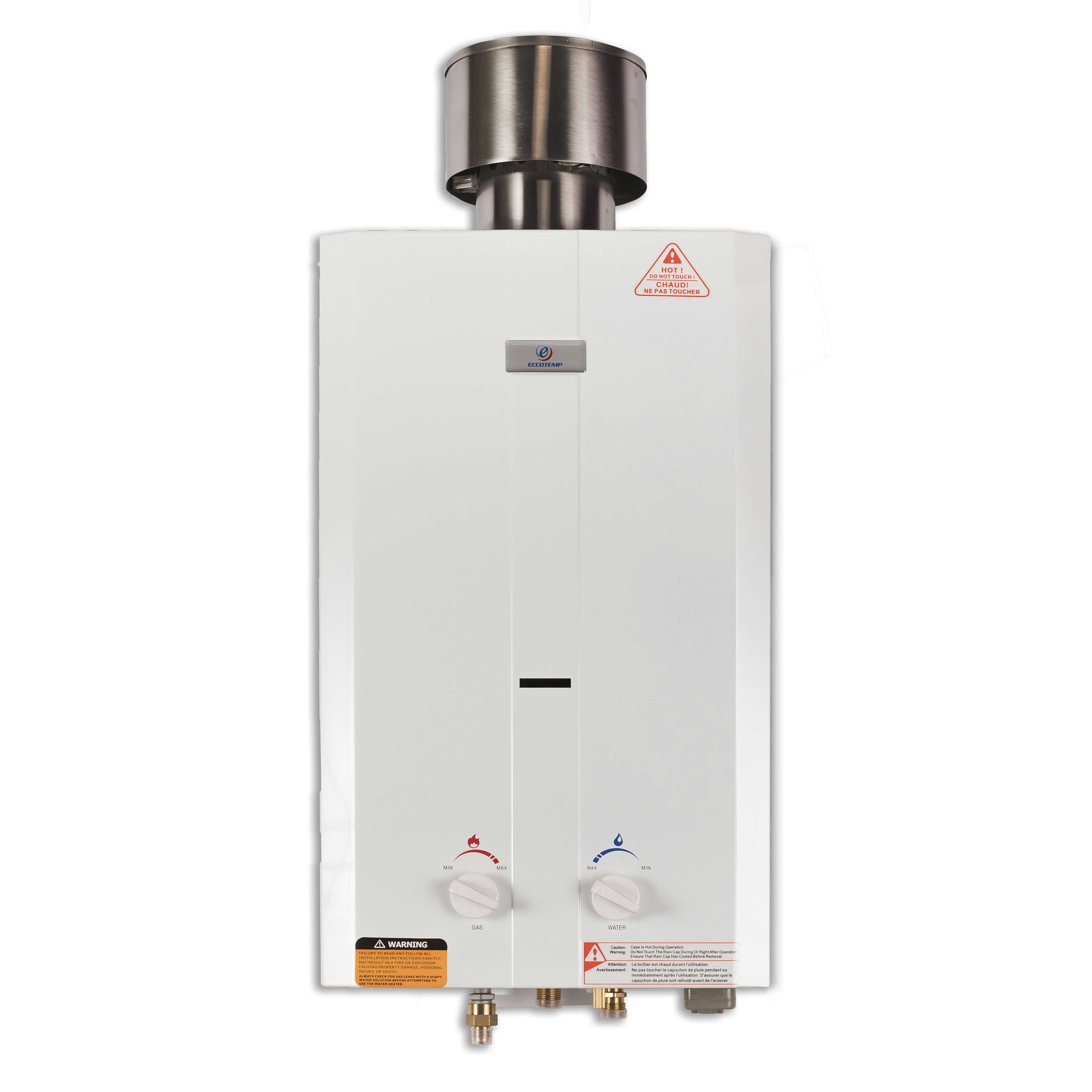 the eccotemp l10 tankless water heater serves as a portable shower