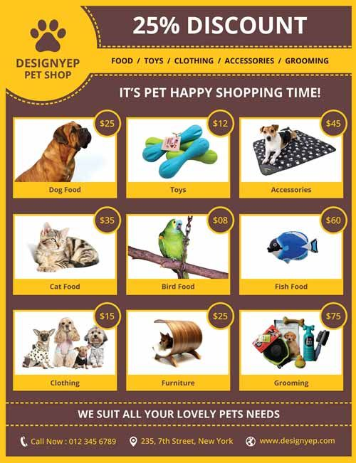 Pet Shop Free Psd Flyer Template  HttpFreepsdflyerComPet