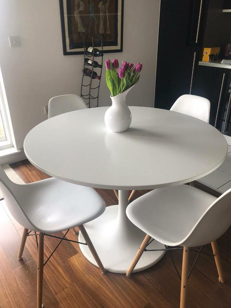 Ikea Docksta White Dining Table In Greenwich London Gumtree Ikea Round Dining Table Dining Room Small Round Dining Room