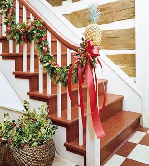 71 Awesome Christmas Stairs Decoration Ideas DigsDigs MERRY - simple christmas decorating ideas