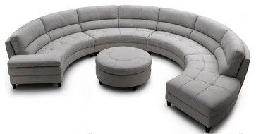 Pavoncello Rotunda 3 Piece Round Sectional Contemporary Sectional Sofas Wasser S Round Sectional Round Sofa Contemporary Sectional Sofa