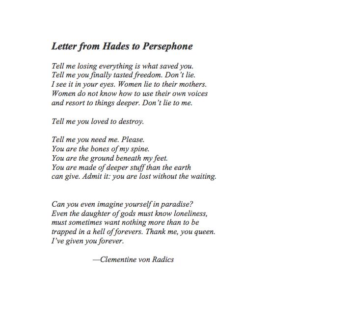 Essay, Research Paper: Persephone