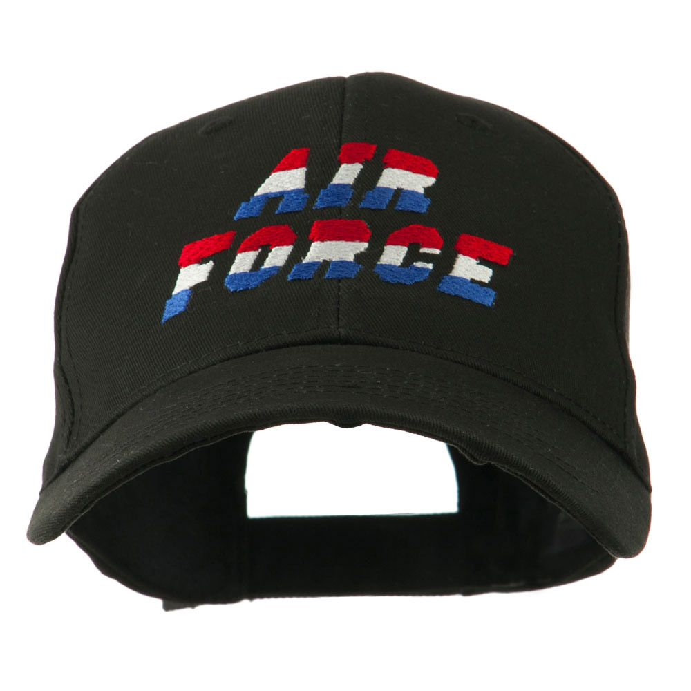 6e33917a Three Color Air Force Logo Embroidered Cap - Black | Military ...