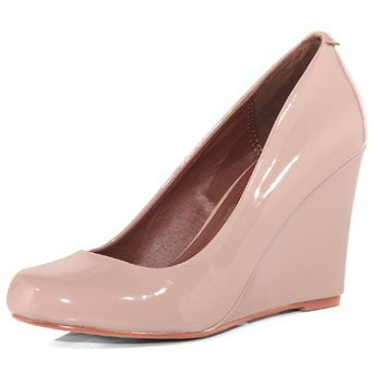 Dorothy Perkins Nude Patent Wedges. $45