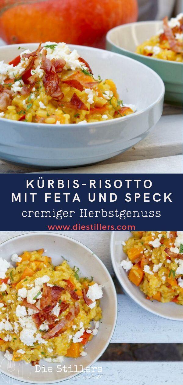 Dieses cremige Kürbis-Risotto ist im Herbst ein richtiger Genuss und wahres Soulfood. Das einfache Rezept findest Du hier... #rezepteherbst