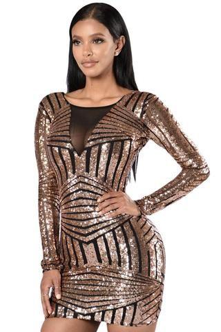 Rose Black Open Back Long Sleeve Mini Dress Laveliq Club Dresses Mini Dress Long Sleeve Dress