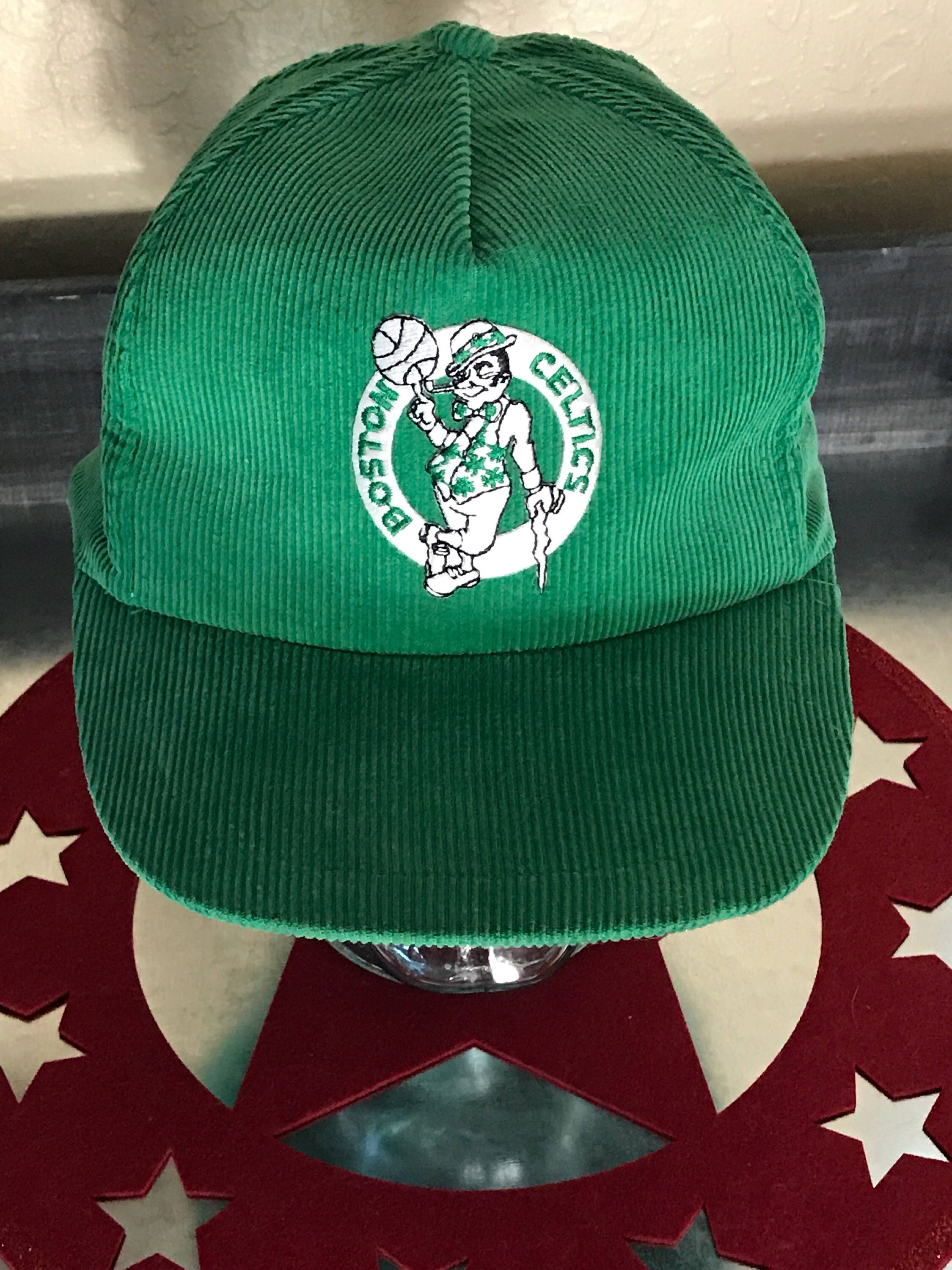 825804bd74b ... discount vintage boston celtics baseball hat cap with snapback . green  corduroy with flat bill.