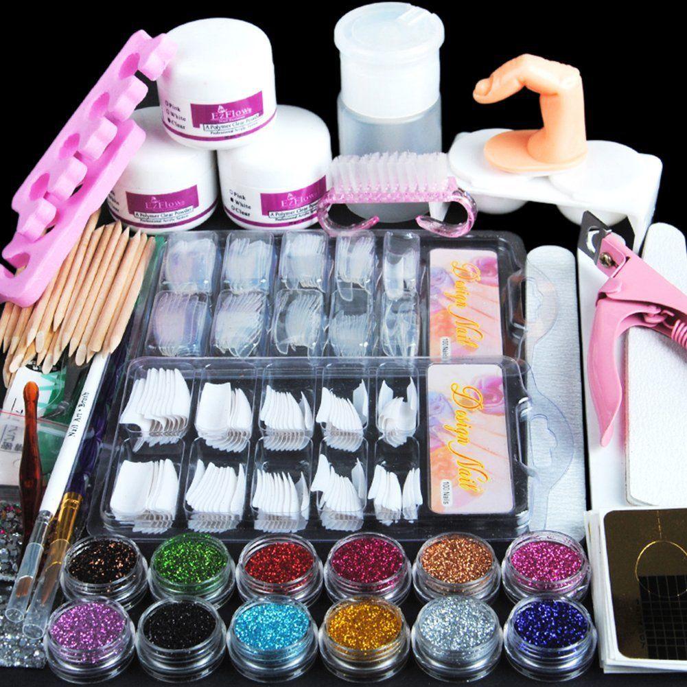 Fashion Gallery Manicure Kit Nail Tips False Nails Nail Art Glitter ...
