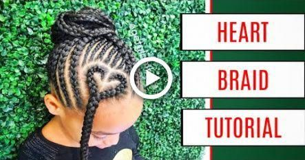 EASY Heart Braid Tutorial for Kids #hairstyles #ghanaBraided # loose Braids for kids #loosebraids