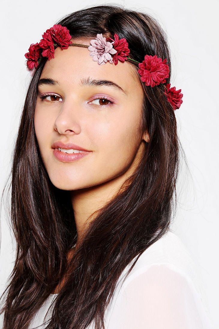Chrysanthemum flower crown headwrap online only urban outfitters chrysanthemum flower crown headwrap online only izmirmasajfo