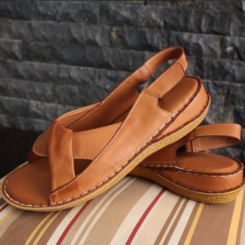 Women Sandals Open Toe Flat Heel Comfy