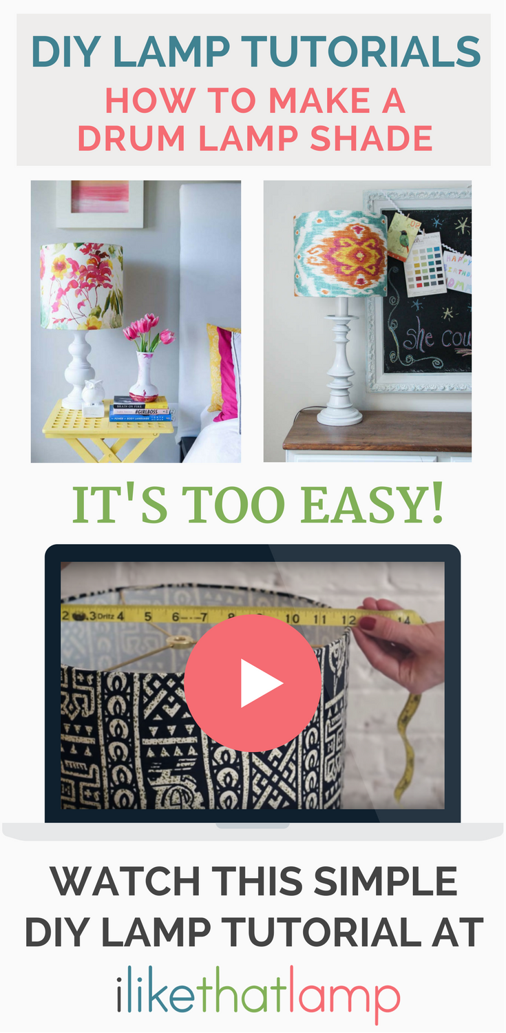 Diy drum lampshades diy lampshade fabrics and lampshades making your own diy lampshade is easy all you need is pressure sensitive styrene greentooth Gallery