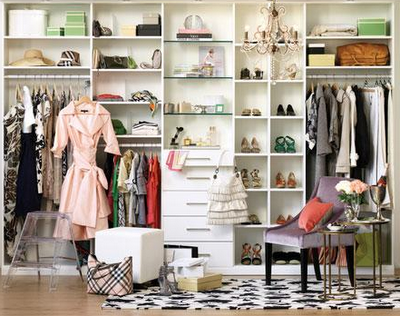 A Post From The Attic From Cluttered Clothes Closet To Chic Boutique How You Can Do It Too Glam Closet Closet Inspiration Simple Closet