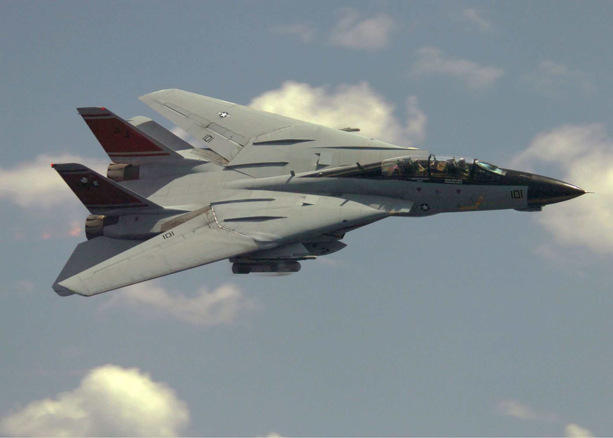 Grumman F-14 Tomcat. I think this will always be my favorite fighter jet. More