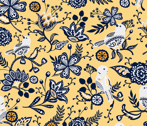 Colorful Fabrics Digitally Printed By Spoonflower Spring Field