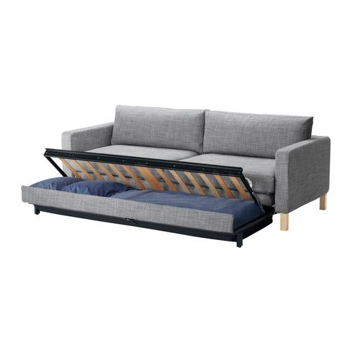 Karlstad Sofa Bed Isunda Gray 899 00 The Price Reflects Selected Options Storage E Under Seat For Pillows And Large Comforters