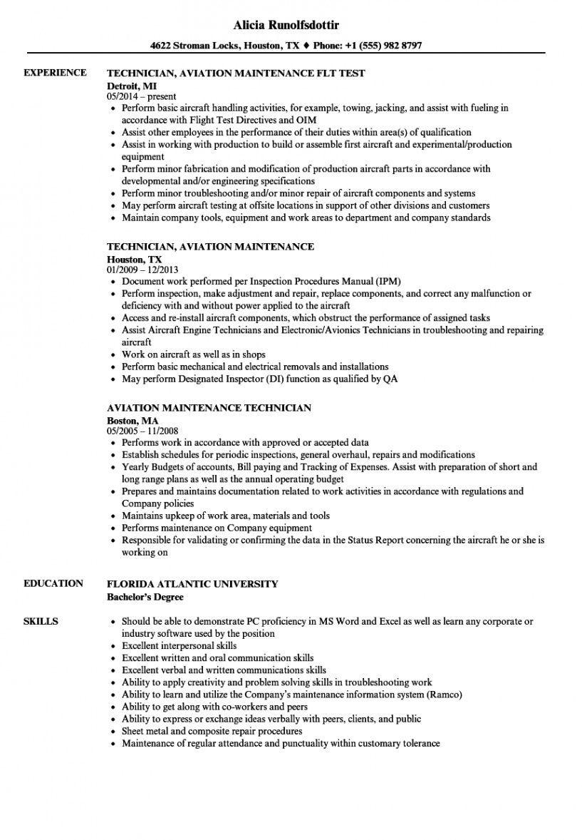 Free Aircraft Mechanic Resume Template Pdf In 2021 Sales Resume Examples Sales Job Description Job Description Template