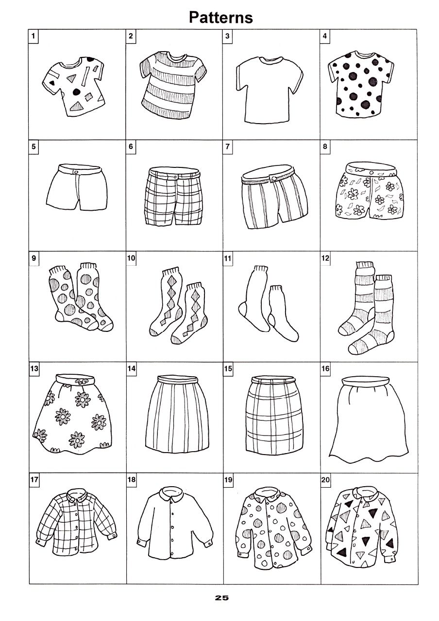 gemustert gestreift gepunktet uni tutoring german preschool crafts coloring for kids und. Black Bedroom Furniture Sets. Home Design Ideas