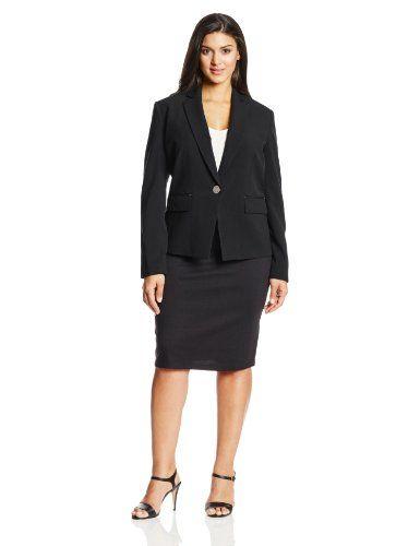 Anne Klein Women's Plus-Size Single-Breasted Jacket  http://www.effyourbeautystandarts.com/anne-klein-womens-plus-size-single-breasted-jacket/
