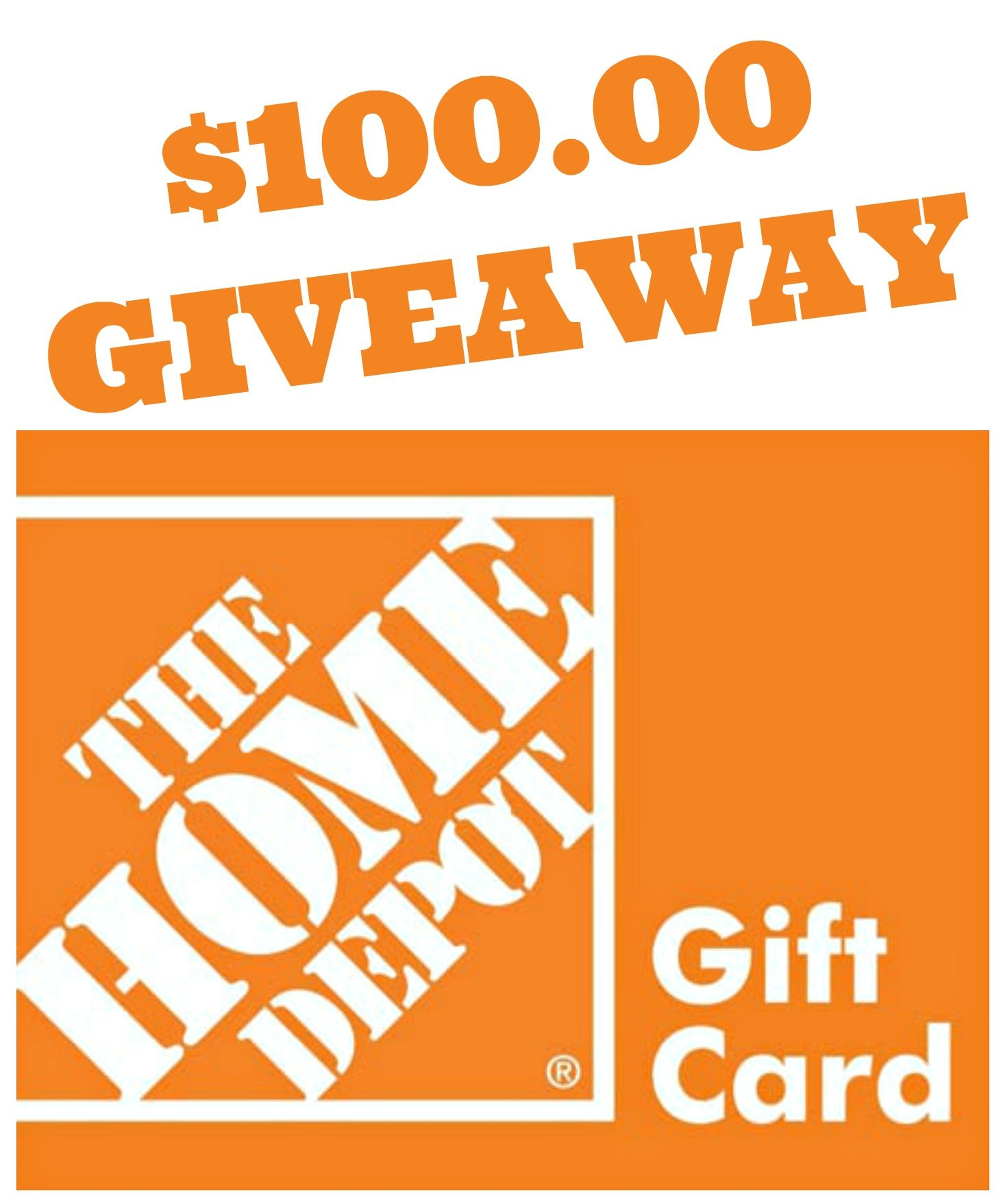 100 home depot gift card giveaway diethood gift card