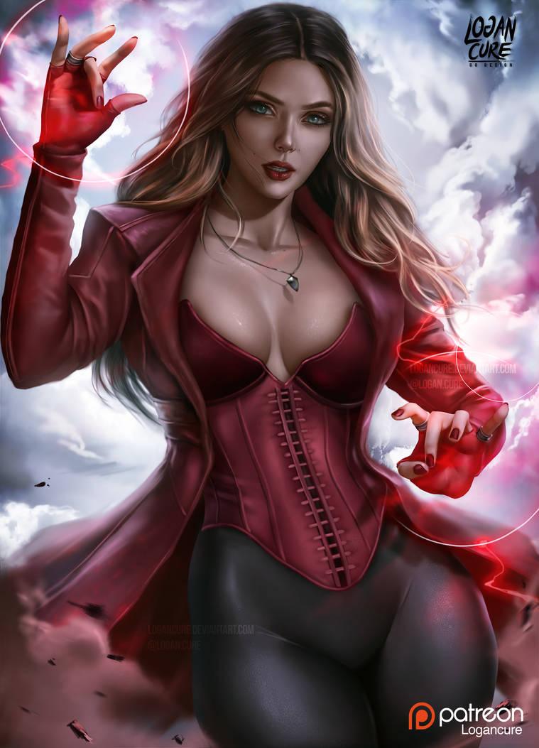 Scarlet Witch Elizabeth Olsen By Logancure On Deviantart