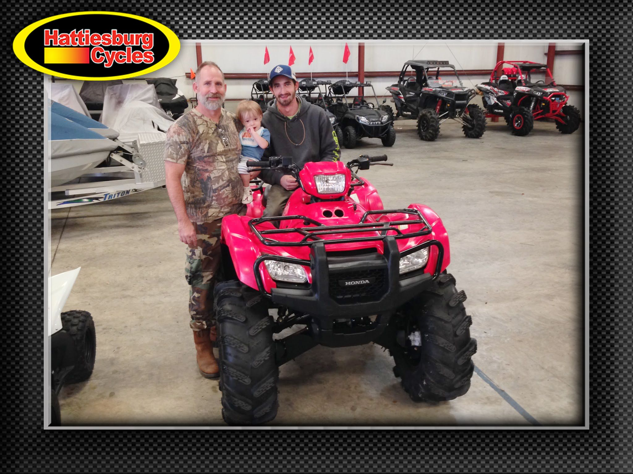 Thanks To Gary Thomas And Myles Langley From Semmes Al For Getting A 2012 Honda Foreman 500 And A 2011 Polaris R Hattiesburg Polaris Ranger 800 Polaris Ranger