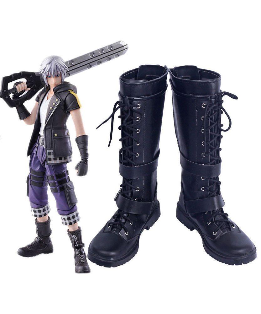 Kingdom Hearts 3 Bring Arts Riku Cosplay Shoes Boots Custom Made{p}