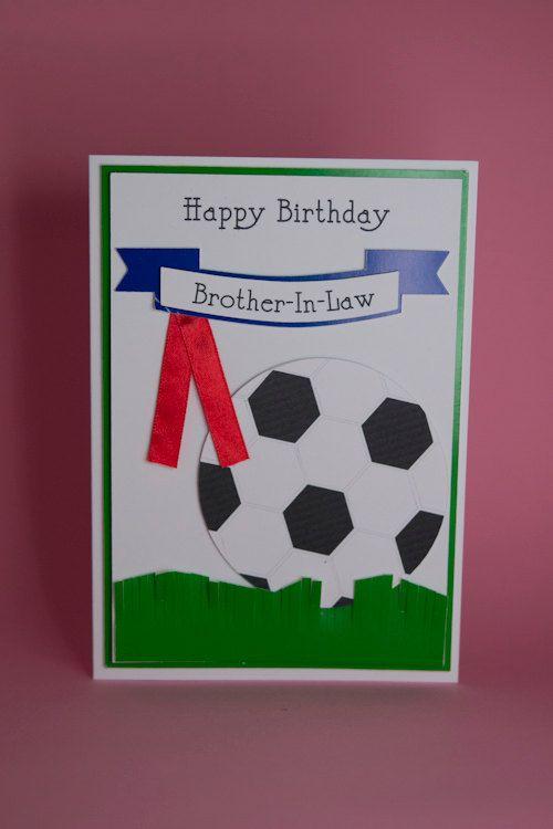 Handmade Football Birthday Card With Banner And Ribbon Male Etsy Kids Birthday Cards Birthday Cards Handmade Birthday Cards