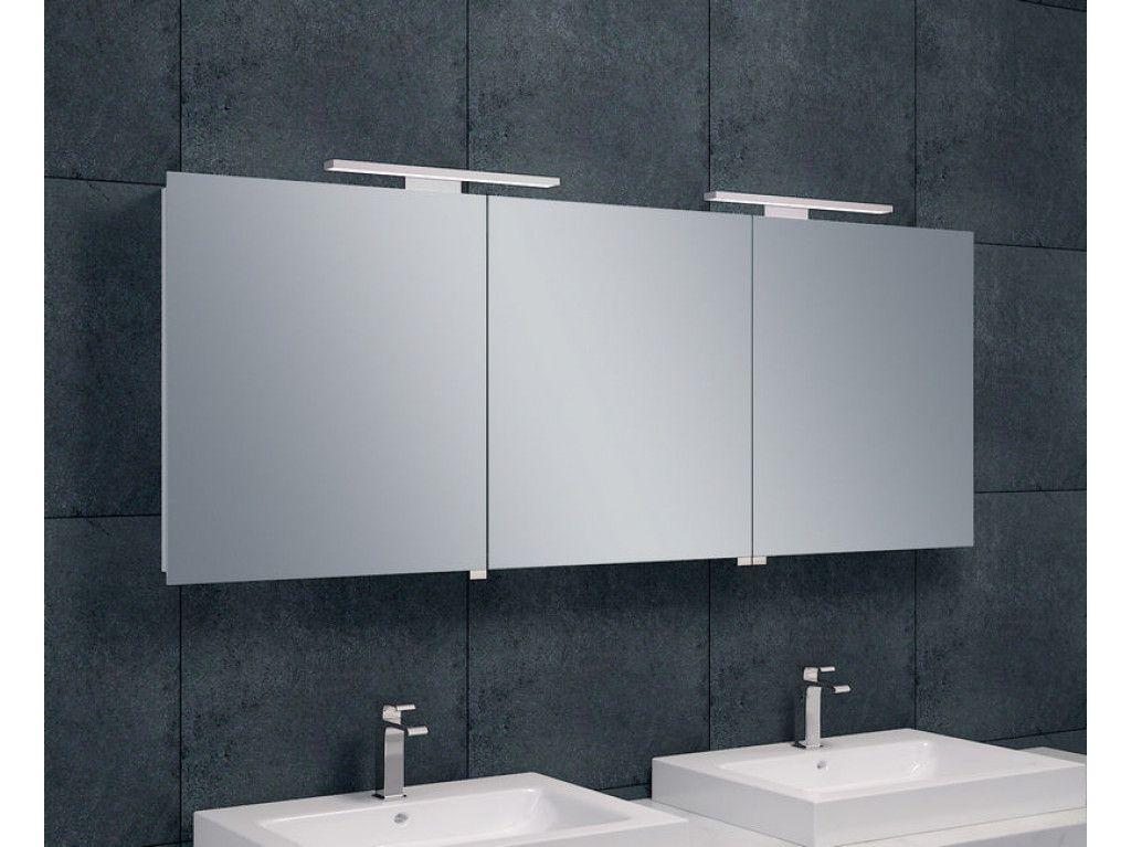 Badkamer Led Verlichting : Wiesbaden bright spiegelkast met led verlichting 160x60 cm in 2018