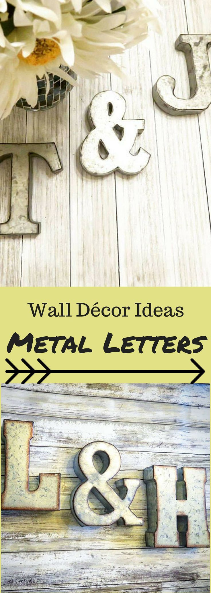 Metal Letters, Metal Wall Letters, Large Metal Letters, Rustic ...
