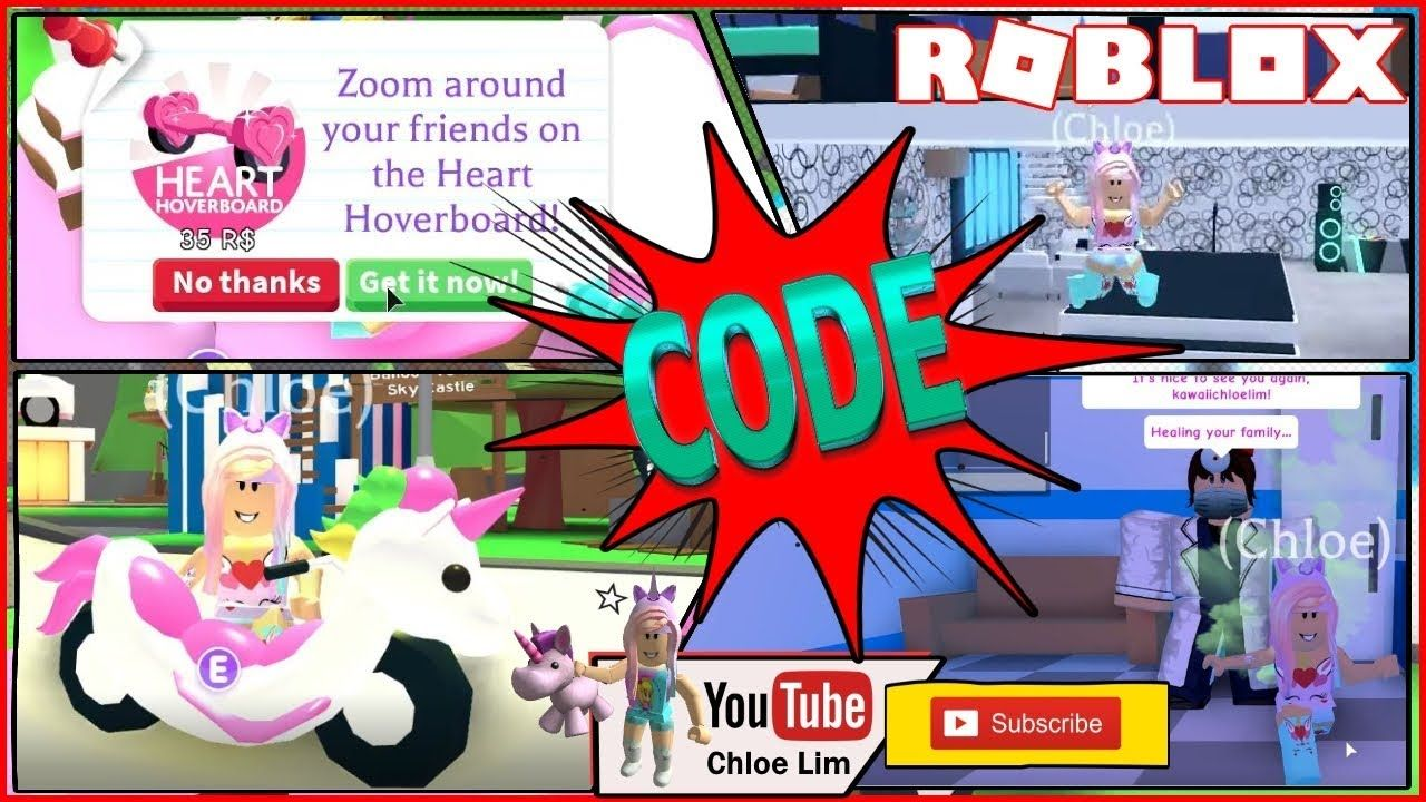 Adopt Me Code Valentines Heart Hoverboard Unicorn Cycle Icecream Hoverboard Roblox Adoption