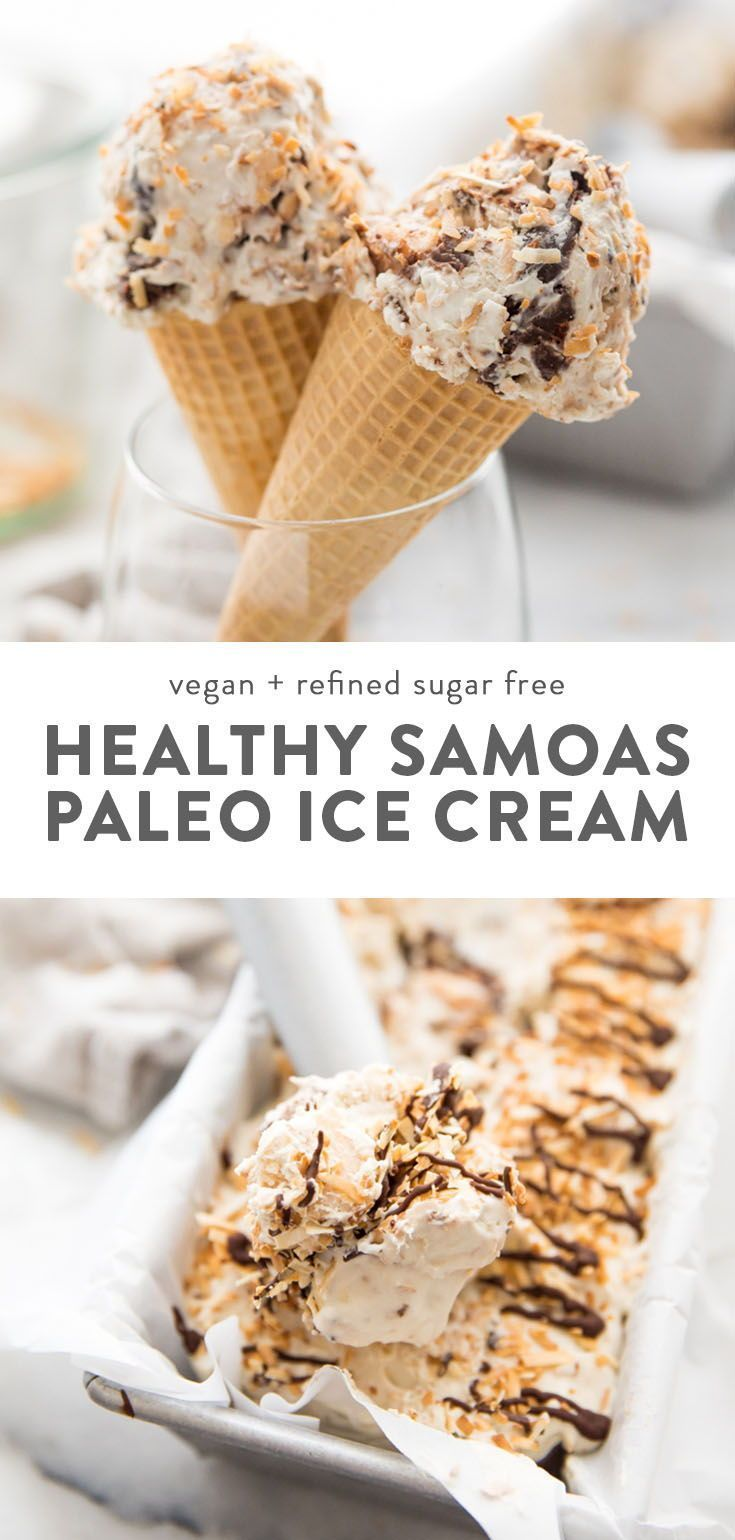 Samoas Cookies Ice Cream Recipe Vegan Paleo