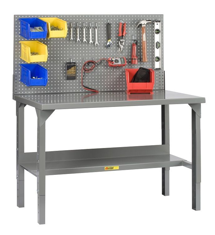 Garage Workbench With Pegboard As Metal Work Benches