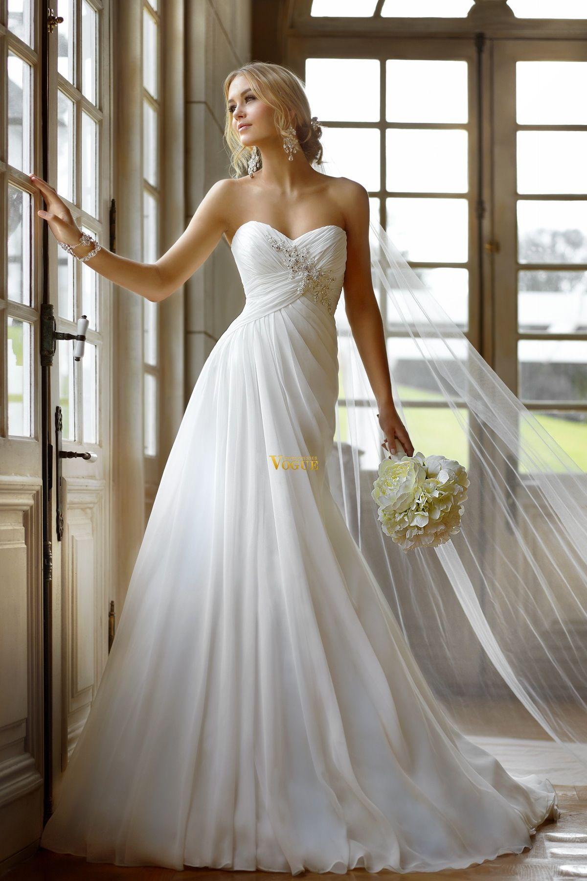 my dream wedding dress flowing with chiffon beautiful white