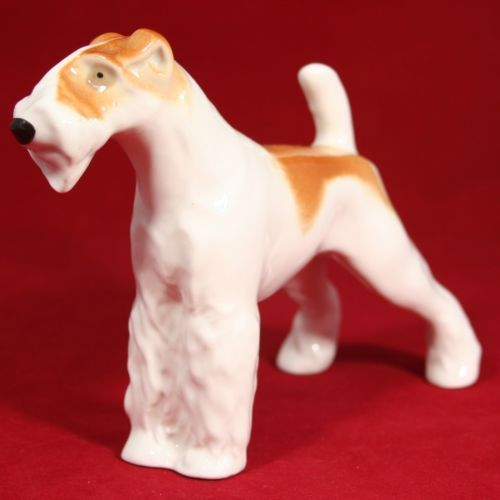Airedale Terrier Figurine Lomonosov Porcelain Russian Ussr Lfz