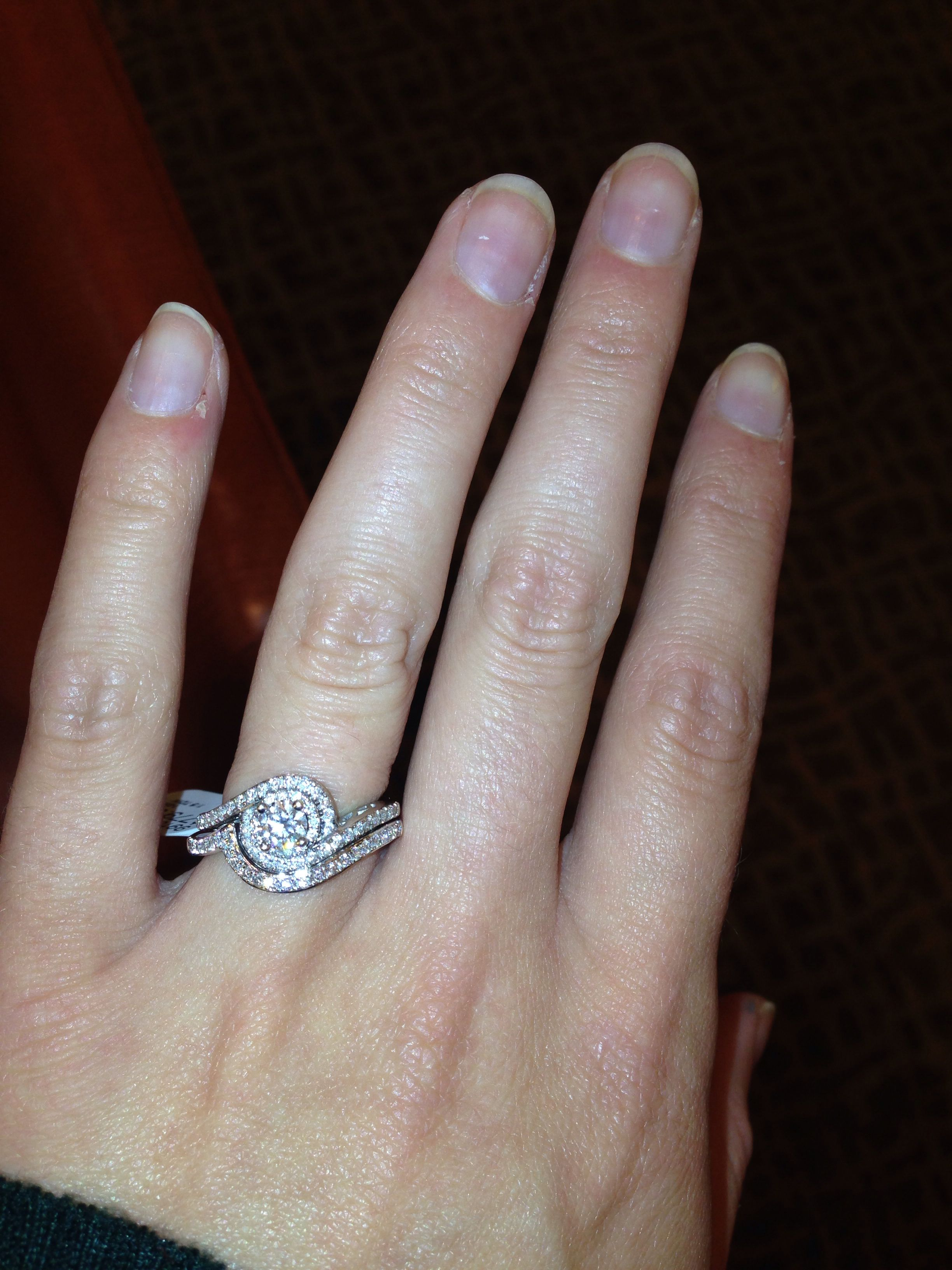 My beautiful Tolkowsky engagement ring with matching band I don t