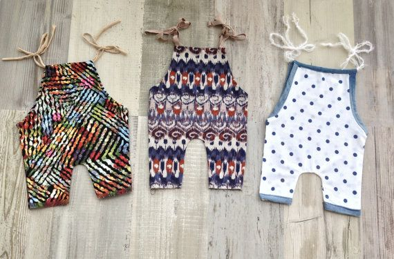 NEW Newborn romper Overal romper  Newborn sizes by Merrieknit